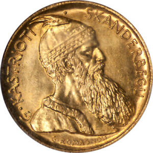 Click now to see the BUY IT NOW Price! ALBANIA 1927 V GOLD 20 FRANGA PCGS MS 66  GRADE   OLD SLAB   MINTAGE  5053