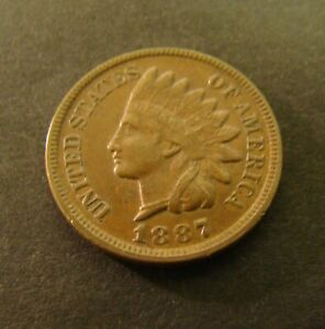 1887 INDIAN HEAD PENNY    XF    CENT       1C COIN