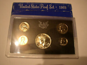 1969 UNITED STATES MINT PROOF COIN SET IN ORIGINAL BOX