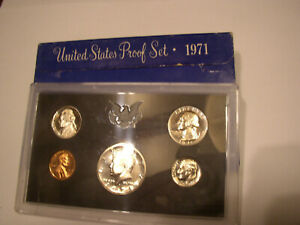 1971 UNITED STATES MINT PROOF COIN SET IN ORIGINAL BOX