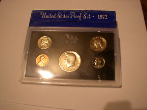 1972 UNITED STATES MINT PROOF COIN SET IN ORIGINAL BOX