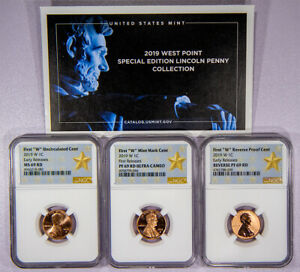 2019 W LINCOLN CENT 3 COIN SET   NGC MS 69 RD   PF 69 UC   REVERSE PROOF 69 RD