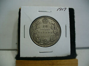 Click now to see the BUY IT NOW Price! 1917  CANADA  SILVER  HALF  DOLLAR  50 CENT PIECE   17  NICE GRADE  SEE PHOTOS