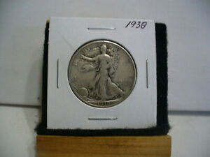 Click now to see the BUY IT NOW Price! 1938  WALKER  LIBERTY WALKING  HALF  DOLLAR      50 CENT PIECE   COIN  38