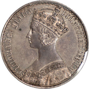 Click now to see the BUY IT NOW Price! GREAT BRITAIN 1847 VICTORIA PROOF GOTHIC SILVER CROWN PCGS PR 58 UNDERGRADED