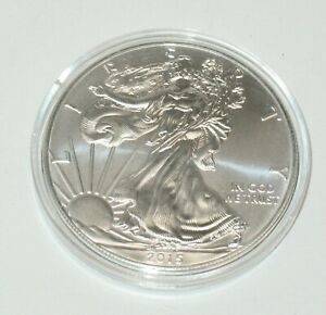 2015 SILVER EAGLE DOLLAR $1 UNCIRCULATED IN COIN CASE BUY MORE AND SAVE