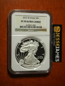 2012 W PROOF SILVER EAGLE NGC PF70 ULTRA CAMEO CLASSIC BROWN LABEL