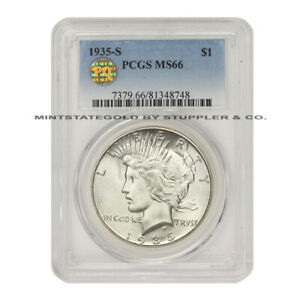 Click now to see the BUY IT NOW Price! 1935 S $1 PEACE SILVER DOLLAR PCGS MS66 PQ APPROVED SAN FRANCISCO GEM GRADE COIN