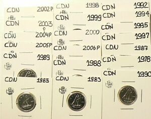 Click now to see the BUY IT NOW Price! 1978 TO 2006P CANADA 10 CENTS LOT OF 19 FROM SETS UNC 5457