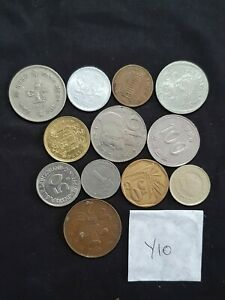 WORLD MIXED COIN LOT  ASIA FIJI USA EURO CANADA FROM EARTH THE FLAT ONE