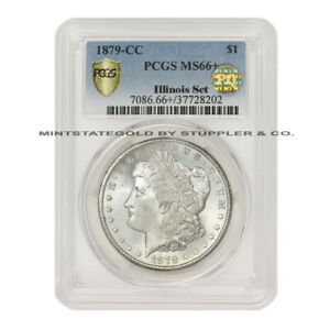 Click now to see the BUY IT NOW Price! TIED FOR FINEST 1879 CC $1 SILVER MORGAN PCGS MS66  PQ APPROVED ILLINOIS SET