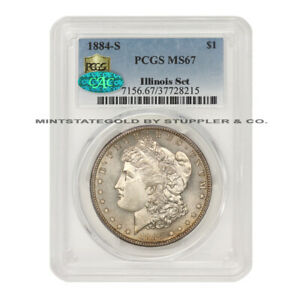Click now to see the BUY IT NOW Price! KEY DATE OF THE SERIES 1884 S $1 SILVER MORGAN DOLLAR PCGS MS67 CAC ILLINOIS SET