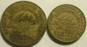 FOREIGN COIN LOT. CAMEROUN 2 DIFFERENT. 1958. ABR.
