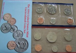 1994 UNCIRCULATED US MINT SET  10 COINS