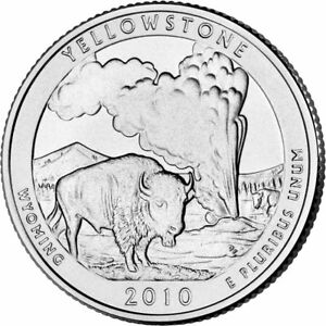 2010 P YELLOWSTONE NATIONAL PARK QUARTER   BRILLIANT UNCIRCULATED   ATB