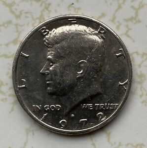 ERROR COIN KENNEDY HALF DOLLAR 1972 D   NO