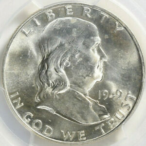 1949 D FRANKLIN HALF DOLLAR PCGS MS 63 FBL SHARP AND LUSTROUS