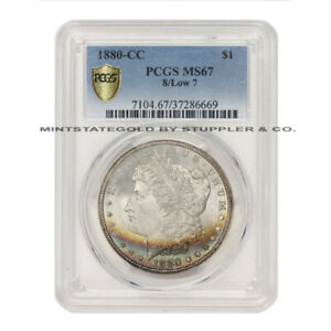 Click now to see the BUY IT NOW Price! 1880 CC $1 SILVER MORGAN PCGS MS67 8/LOW 7 CARSON CITY ILLINOIS SET DOLLAR COIN