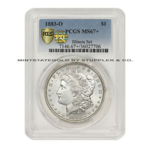 Click now to see the BUY IT NOW Price! 1883 O $1 MORGAN SILVER DOLLAR PCGS MS67  PQ APPROVED GEM GRADED ILLINOIS SET
