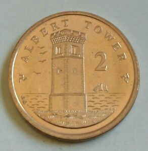 ISLE OF MAN 2 PENCE IN UNCIRCULATED CONDITION IOM 2P .