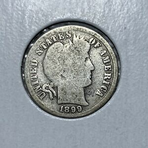 1899 P BARBER  SILVER ONE DIME IN