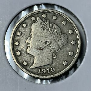 1910 LIBERTY NICKEL IN FINE CONDITION