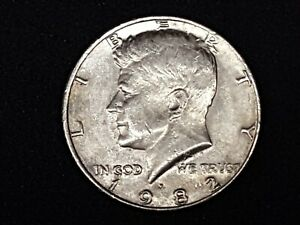 1982P KENNEDY HALF DOLLAR ERROR  NO