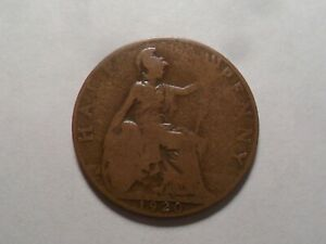 1920 NICE GREAT BRITAIN BZ HALF PENNY MINTAGE 35 146 793 OLD ENGLISH COLLECTION