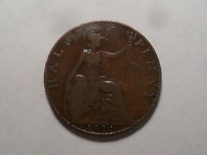 1921 NICE GREAT BRITAIN BZ HALF PENNY MINTAGE 28 027 293 OLD ENGLISH COLLECTION