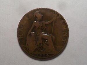 1924 NICE GREAT BRITAIN BZ HALF PENNY MINTAGE 13 971 038 OLD ENGLISH COLLECTION