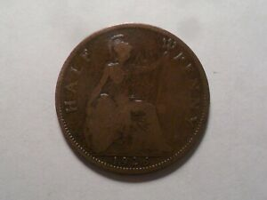 1926 NICE GREAT BRITAIN BZ HALF PENNY MINTAGE 6 712 306 OLD ENGLISH COLLECTION