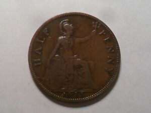 1933 NICE GREAT BRITAIN BZ HALF PENNY MINTAGE 10 560 000 OLD ENGLISH COLLECTION
