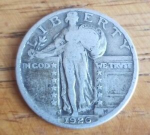 1926 S STANDING LIBERTY QUARTER CHOICE FINE FREE