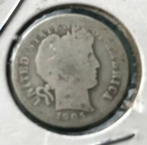 COMPARE THIS 1905 P BARBER SILVER DIME