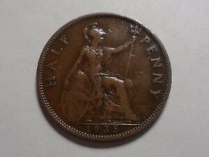 1935 NICE HALF PENNY GREAT BRITAIN COPPER LOW MINTAGE 12 180 000