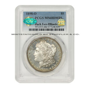 Click now to see the BUY IT NOW Price! 1898 O $1 SILVER MORGAN PCGS MS68DMPL DEEP MIRROR PROOF LIKE CAC PQ ILLINOIS SET