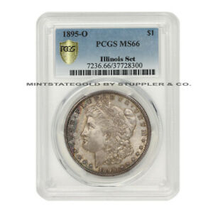 Click now to see the BUY IT NOW Price! VERY  1895 O $1 MORGAN PCGS MS66 GEM GRADED SILVER DOLLAR COIN ILLINOIS SET