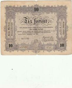 HUNGARY  BANKNOTE 10 FORINT 1848
