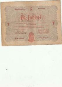 HUNGARY  BANKNOTE 5 FORINT   1848