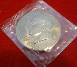 1977 D EISENHOWER DOLLAR UNCIRCULATED IN ORIGINAL MINT CELLO HOLDER