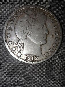 LAMINATION ERROR 1912 S BARBER HALF DOLLAR    STRONG LIBERTY AND REVERSE