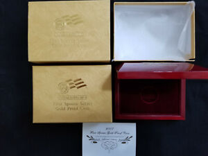 2007 FIRST SPOUSE SERIES GOLD PROOF COIN BOX W/ COA CARD  JEFFERSON   NO COIN