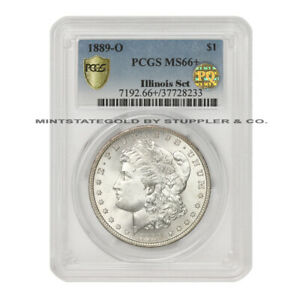 Click now to see the BUY IT NOW Price! 1889 O $1 SILVER MORGAN PCGS MS66  PQ APPROVED ILLINOIS SET TIED FOR FINEST