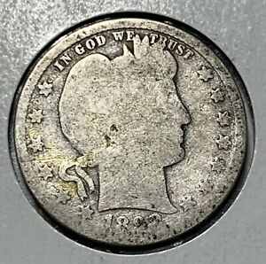 1898 BARBER SILVER QUARTER IN GOOD CONDITION