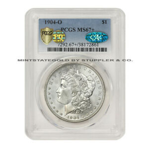 Click now to see the BUY IT NOW Price! 1904 O $1 SILVER MORGAN DOLLAR PCGS MS67  PQ CAC GEM BLAST WHITE TIED FOR FINEST