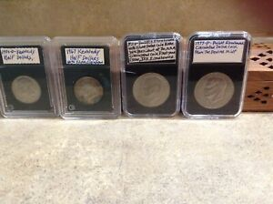 LOT OF 4 COINS 1977  1971  D EISENHOWER & 1967 1984  D KENNEDY HALFS & DOLLARS