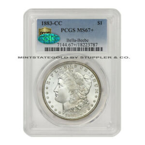 Click now to see the BUY IT NOW Price! 1883 CC $1 SILVER MORGAN PCGS MS67  CAC CERTIFIED GEM GRADE CARSON CITY MINT