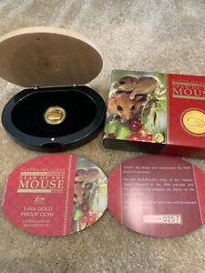 Click now to see the BUY IT NOW Price! 2008 PERTH MINT PROOF GOLD COIN LUNAR MOUSE RAT 1/4 OZ BOX COA 257/5000