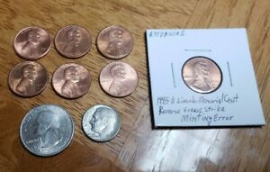 GREASE FILLED US COIN LOT OF  9  COINS EXACT ITEMS PICTURED