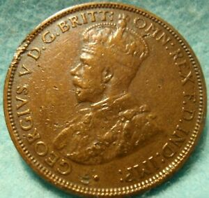 AUSTRALIA HALF PENNY 1916 GREAT DETAILS HIGH GRADE NICE COIN